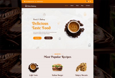 Fresh Bakery, Pastry and Cake Shop WordPress Theme