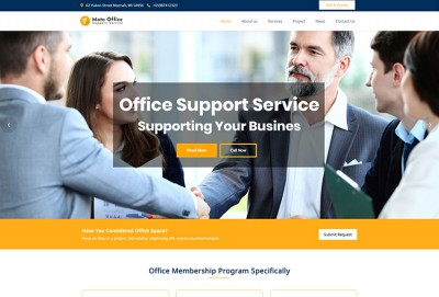Office Support Service WordPress Theme