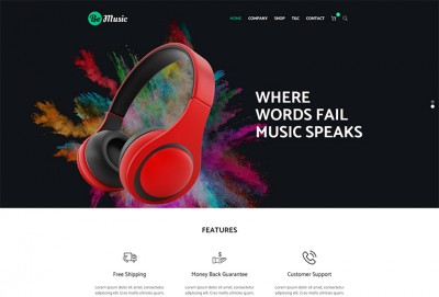 Be Music - Music Store HTML Website Template